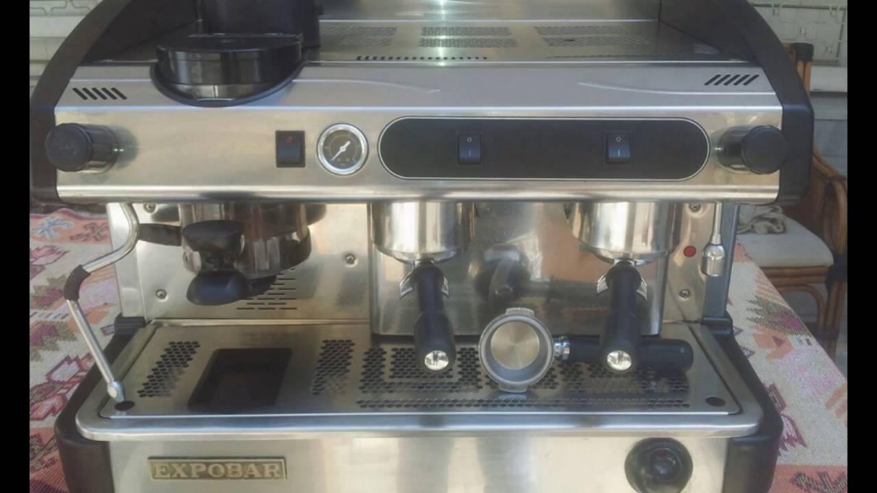 2.el Espresso Makinesi, 2.el Satılık 3 Guruplu Escobar Espresso Makinesi.  0532.289.10.45 - YouTube