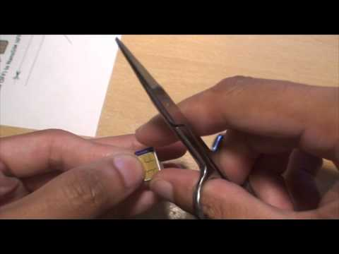 How to Cut Sim Card To Fit iPhone 5 Nano Sim Card
