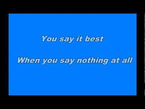 Ronan Keating And Paulina Rubio   When You Say Nothing At All