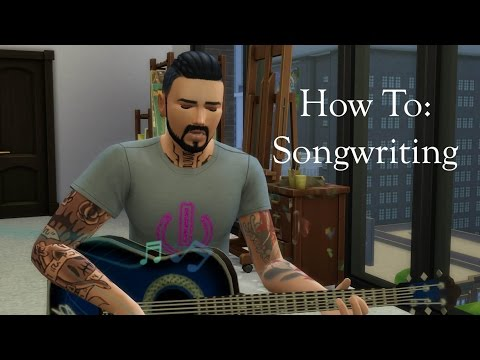 How to write songs || The Sims 4 || Tutorial