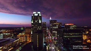 2015 Downtown Raleigh Aerial Highlights in 4K UHD