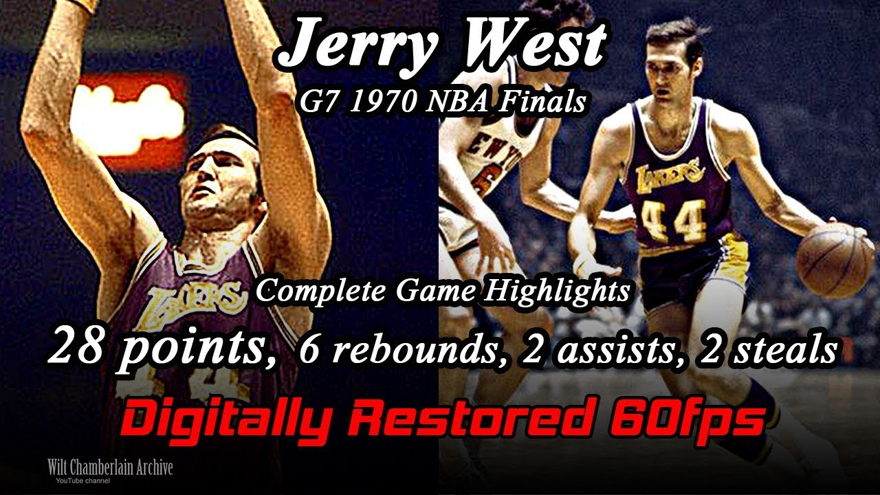 78fe44b56 Jerry West (Digitally Restored 60fps). 1970 NBA Finals G7 Full Highlights  (28pts