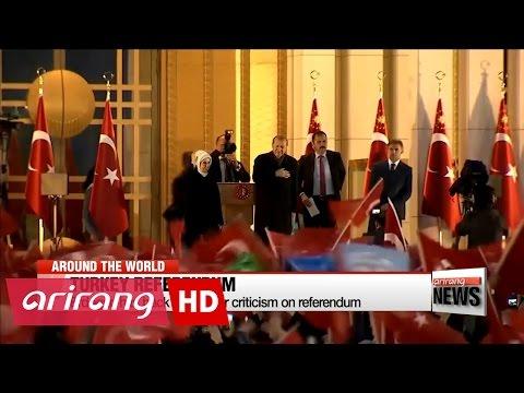 Turkey's Erdogan hits back at monitor criticism on referendum
