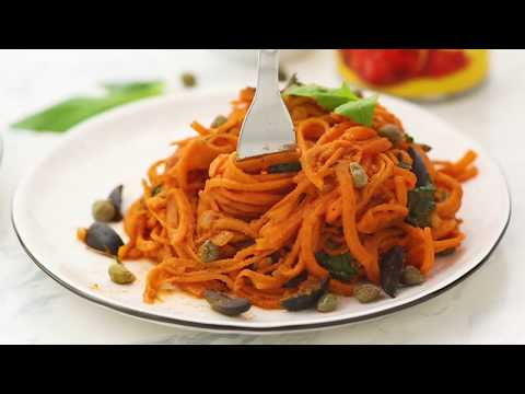 Snappy Italian Sweet Potato Spaghetti {Paleo, Vegan}