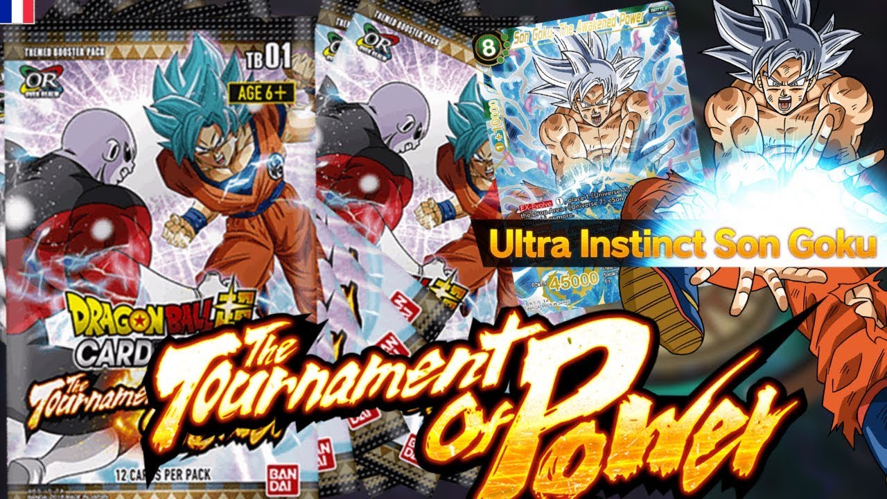 Ouverture Display The Tournament Of Power Dragon Ball Super Card Game