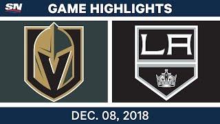 NHL Highlights | Golden Knights vs. Kings - Dec 8, 2018