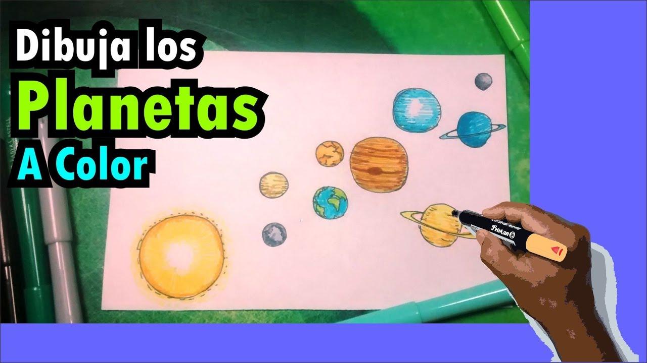 Aprende a dibujar el sistema solar con colores - Solar system - YouTube