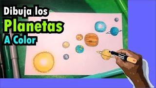 Aprende a dibujar el sistema solar con colores - Solar system