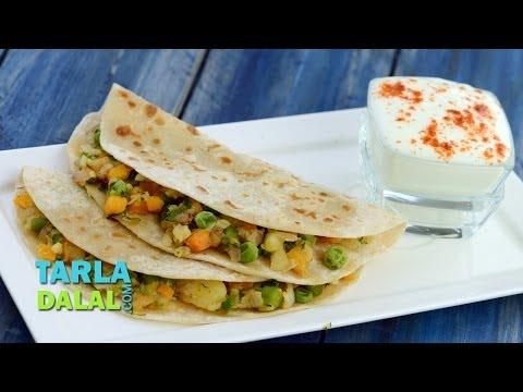 Mixed Vegetable Paratha by Tarla Dalal