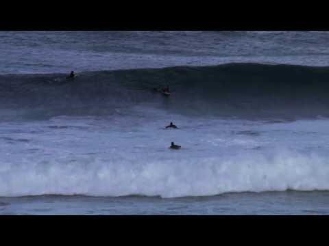 Surfers On Big Waves, Bronte Beach, Sydney,16 Oct 2010