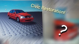 Honda Civic restoration! (Roblox studio)