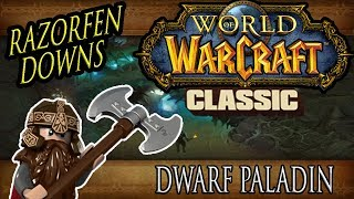 Razorfen Downs Guild Run - Classic Vanilla WoW - Dwarf Paladin