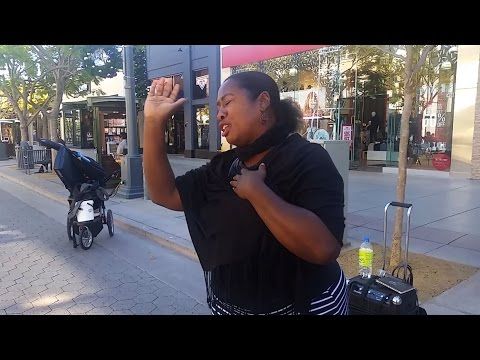 Opera singer takes to Santa Monica's Third Street Promenade