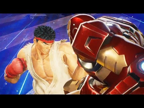 Marvel vs  Ca  om Infinite Gameplay Trailer  Iron Man  amp  Captain Marvel Vs  Ryu  amp  Mega Man Ba Poster