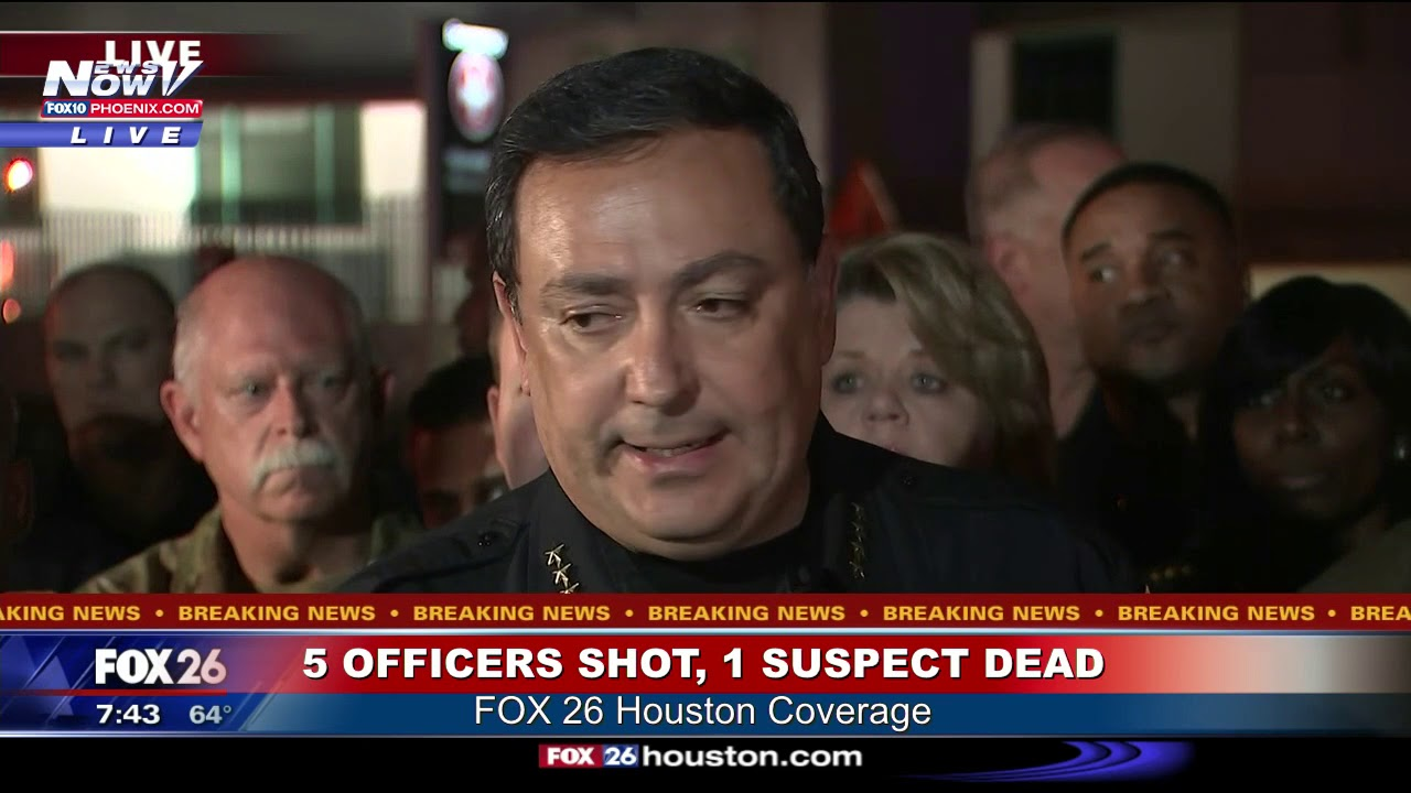 What we know about the 4 Houston police officers shot and 1 injured