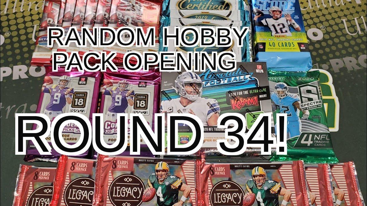 Random Football Card Hobby Pack Opening Round 34