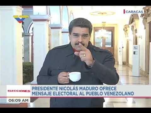 Presidente Nicolás Maduro invita a votar en las elecciones regionales, 15 octubre 2017