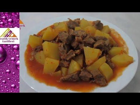 Etli Patates Yemeği Yapılışı Videosu