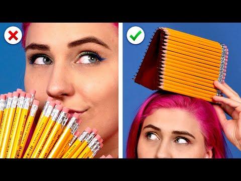 11 Cool DIY School Supplies!  Back To School Hacks