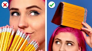 11 Cool DIY School Supplies!  Back To School Hacks