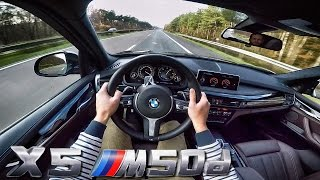 BMW X5 M50d TOP SPEED POV on AutoBahn