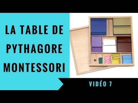 V7 La Table De Pythagore Montessori Special Formation Youtube