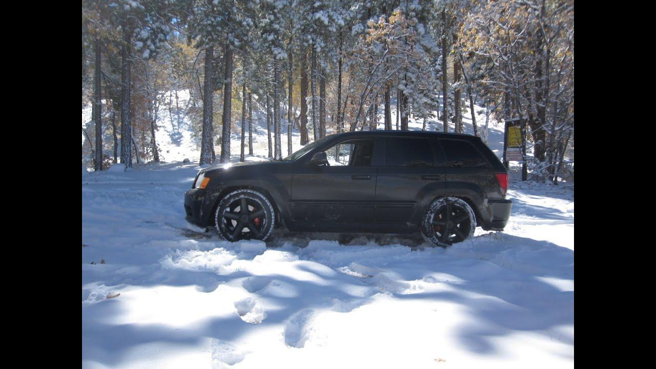 All Season Tires >> Jeep srt8 MONSTER! Snow drive! - YouTube