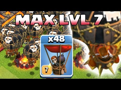 Clash Of Clans - MAX LVL 7 BALLOON PARADE!! (Challenge attack!!)