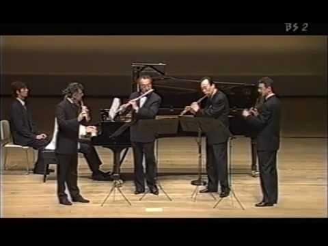 """Flute Quartet """"Ah vous dirais-je, Maman"""", K.265 / Mozart"""