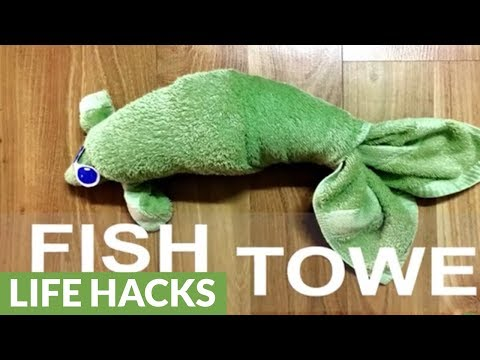 How To Make A Cute Fluffy Fish From A Towel