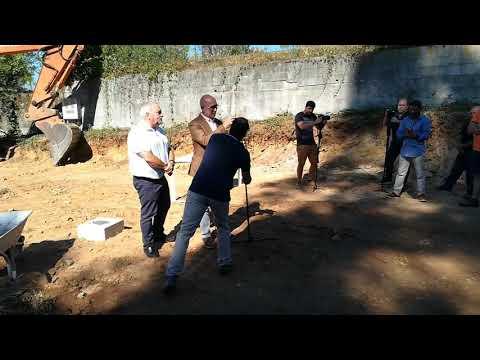 Lançamento da primeira pedra da Junta de Freguesia de Água Longa