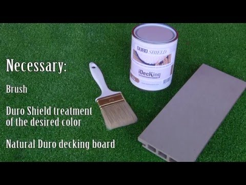 How To Stain Your Composite Deck Duro The Stainable Decking Made Of Rice Husk