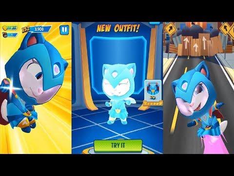 Talking Tom Hero Dash Android Gameplay #5 - Superhero ANGELA  New Outfit Unlocked