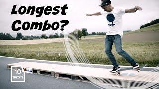 World Record? Longest Distance Skateboard Combo