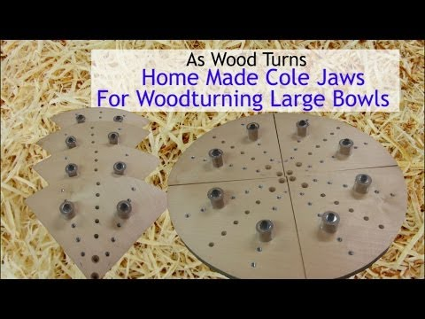 Home Made Cole Jaws For Woodturning Large Bowls