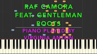 Roots - RAF Camora feat. Gentleman (Anthrazit)  Piano Cover Synthesia