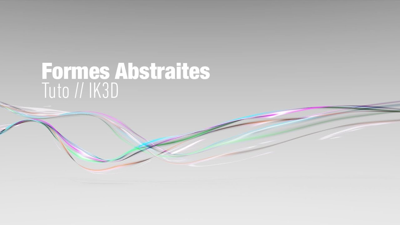 formes abstraites  blender tuto motion graphics      ik3d