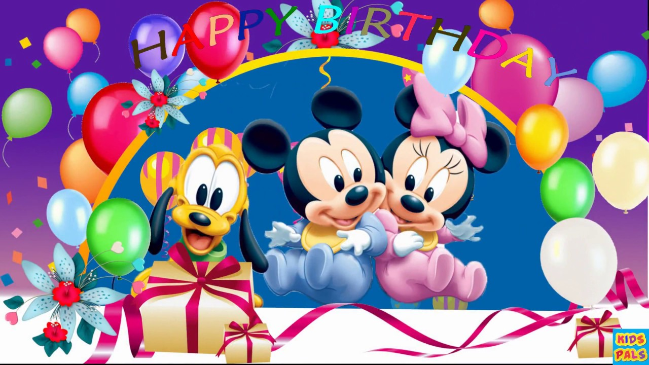 1st Birthday Wishes Happy Song With Mickey Mouse