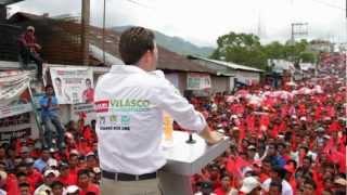 Manuel Velasco Coello en Petalcingo (Tila, Chiapas)