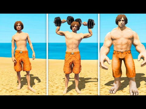 BECOMING THE STRONGEST MAN in GTA 5 RP!