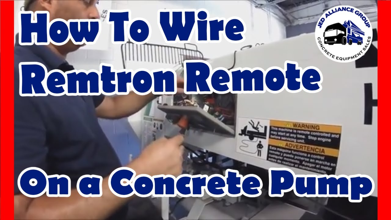 how to wire a remtron remote control to a concrete pump youtube rh youtube com