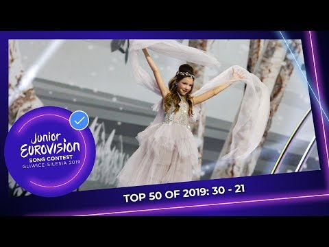 TOP 50: Most Watched In 2019: 30 TO 21 - Junior Eurovision Song Contest