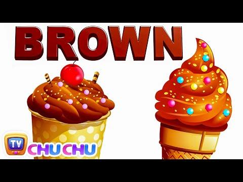Color Songs - The BROWN Song   Learn Colours   Preschool Colors Nursery Rhymes   ChuChu TV