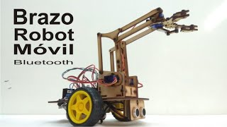 Brazo robot móvil Bluetooth