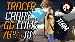 [OVERWATCH] Tough Carry Game as Tracer on Horizon