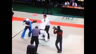 Ref kicks both fighters asses #competition #martialarts #fighting #combat #sport #sports #lmao #ref
