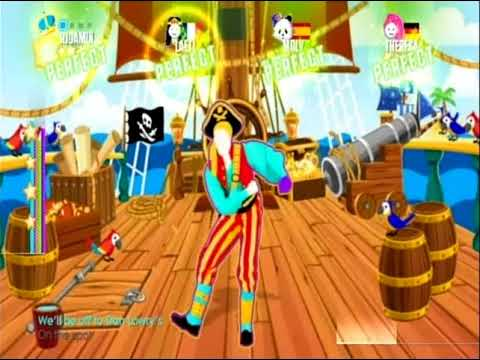 JUST DANCE 2018 KIDS Fearless Pirate By Marine Band 5 MEGASTARS (Wii)