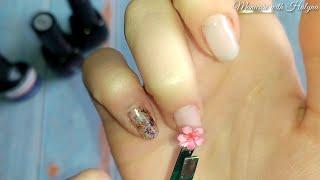 Маникюр ЛЕВОЙ рукой Как клеить наклейки Простой Дизайн Ногтей Обязательно посмотри это видео