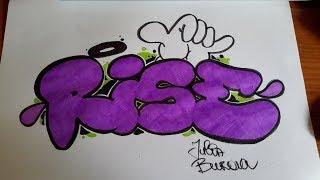 Простое граффити на бумаге #8