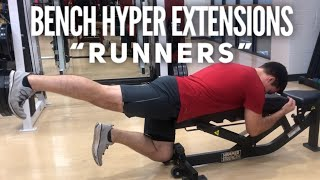Bench Back Extension Runners | Exercise For Glutes and Lower Back